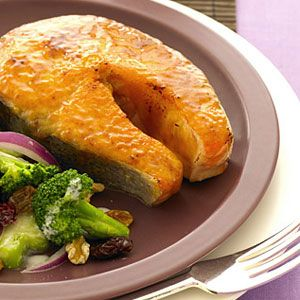 Glazed with a blend of light brown sugar and Dijon mustard, this healthy dish is the epitome of simple sophistication. #food #healthy