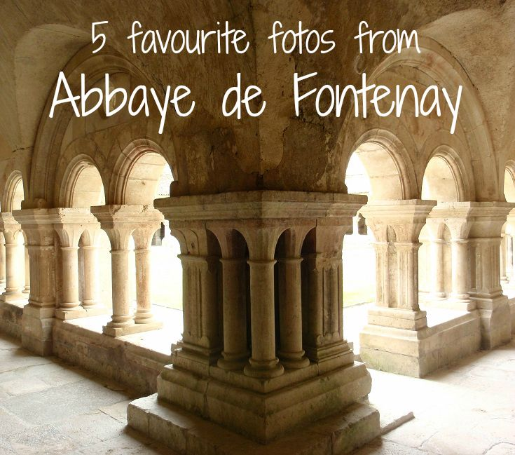 The cloister at l'Abbaye de Fontenay - a shuttle bus ride from Montbard on the Burgundy Canal, France