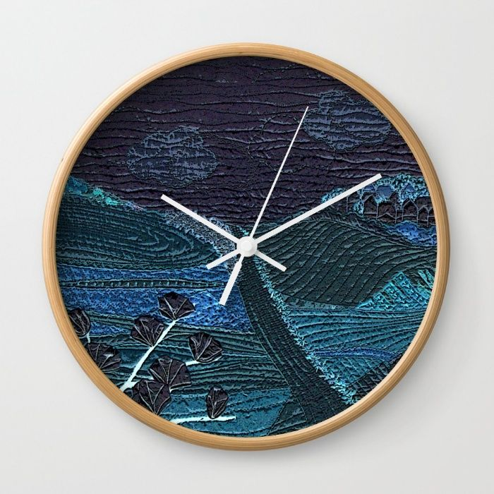 Deep in the night Wall Clock by Bozena Wojtaszek | Society6