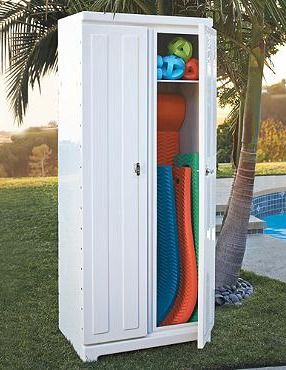 Keep Your Pool Party Essentials Secure And Organized Without Sacrifing Style With The Patio Storage Cabinet