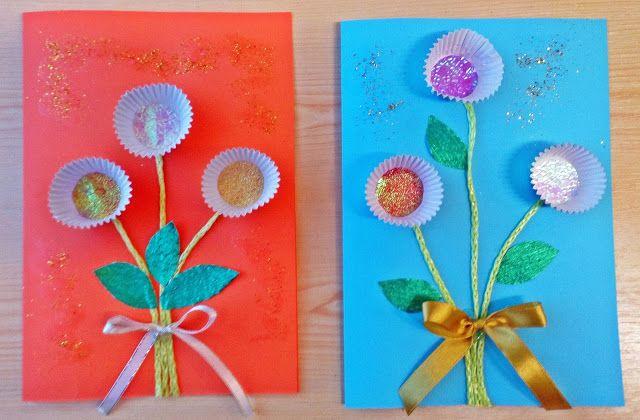 Kolorowy Swiat Dzieci Laurki Dla Babci I Dziadka Crafts Valentine Theme Activity