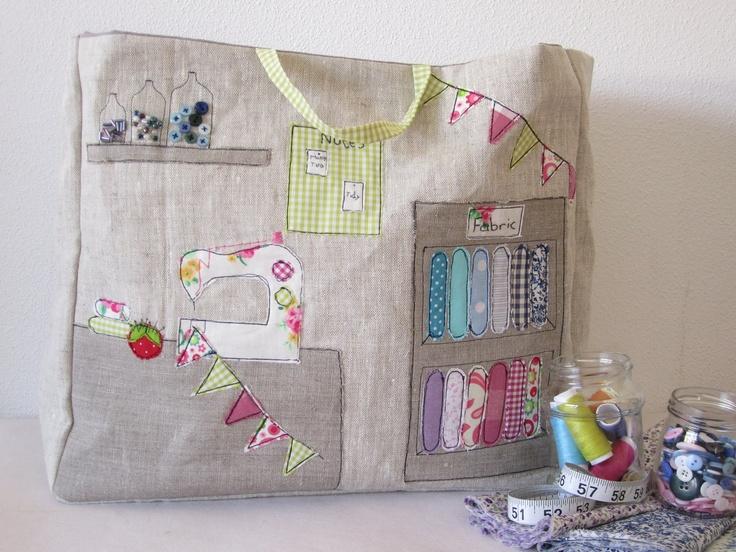 Sewing machine basket.