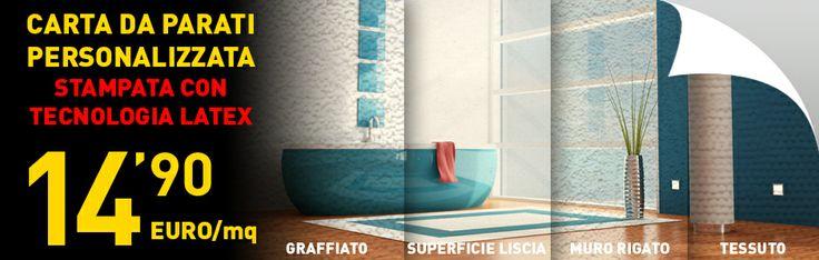 crea la tua parete personalizzata ad euro 14.90 al mq http://www.stampaindigitale.it/carta-da-parati.html