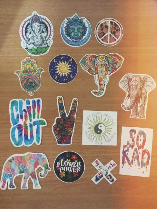 Hippie boho sticker assortment