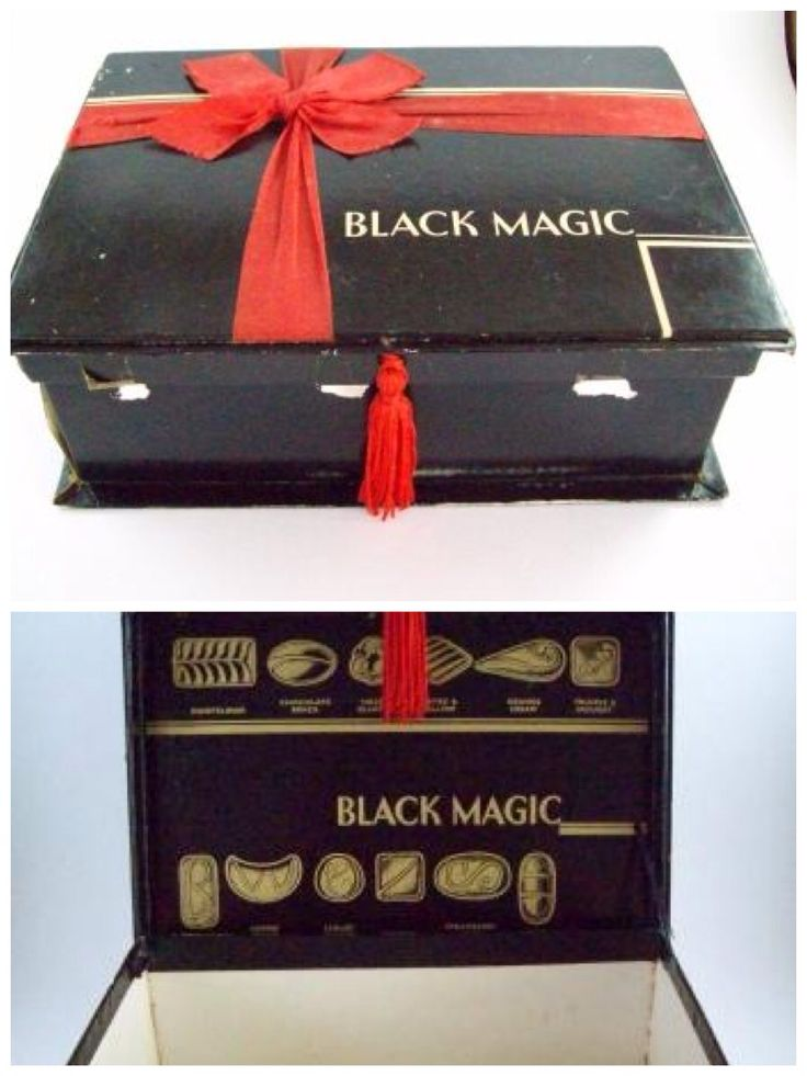 Black Magic chocolate box...loved this to keep my favourite bits and bobs in after the chocolates were eaten!