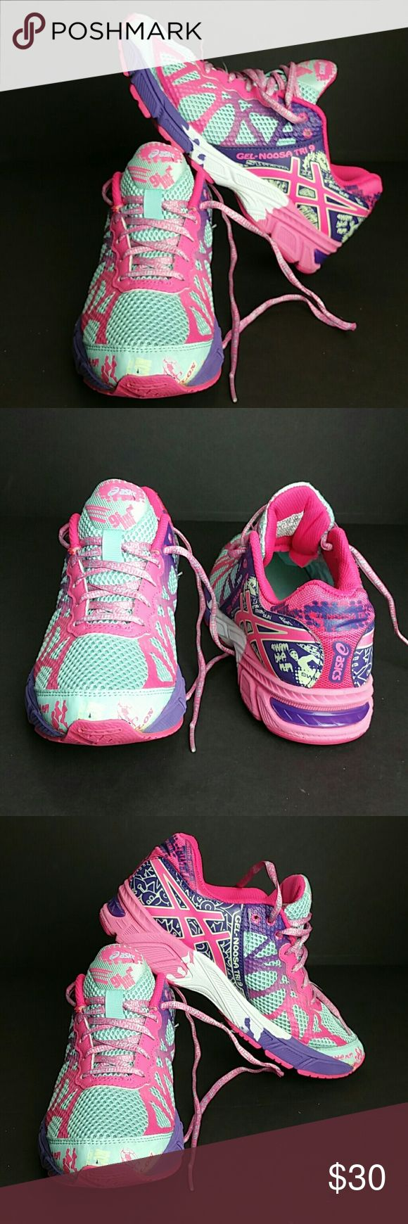 ASICS GEL-NOOSA TRI 9 GIRLS SHOES VERY CLEAN INSIDE-OUT   GIRLS SIZE 5 BIG KIDS   SKE # MLPO Asics Shoes Sneakers
