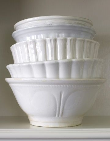 Lots of great white bowls come in handy for serving colorful chips, dips, sauces, and sides...