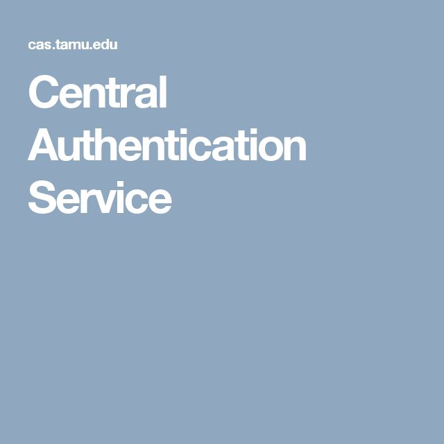 Central Authentication Service