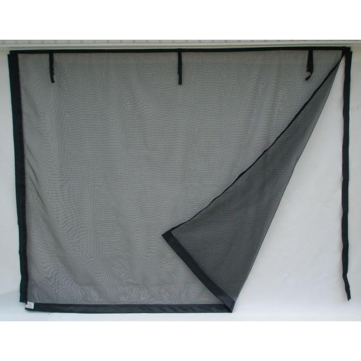 fresh air screens model c 8ft x 7ft zipper single garage door screen