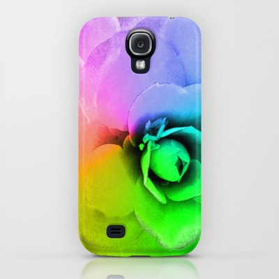 Rainbow Blossom On Phone Cases, Samsung Galazy #iPhone #phone #cases! #photographic #flower #camellia #rainbow colors original #art on #fashion #tech #accessories for #her #office #gift