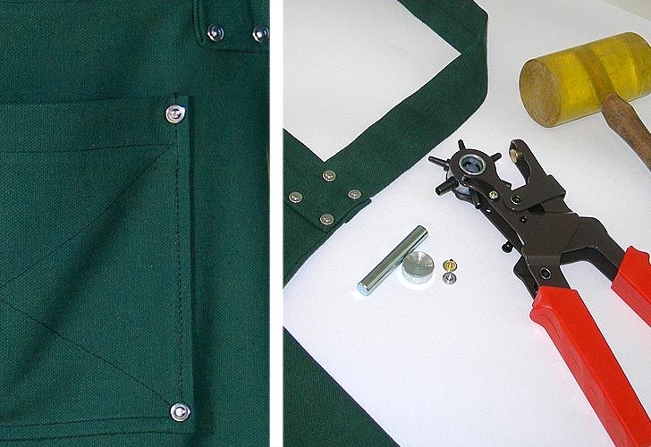 How to Attach metal Rivets on Sewing Projects. Tutorial: http://sew4home.com/tips-resources/sewing-tips-tricks/635-how-to-attach-metal-rivets-on-sewing-projects