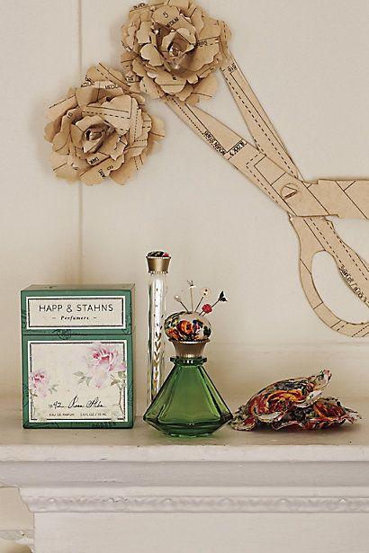 How super adorable is this? a Pin cushioned perfume! #anthroregistry Happ & Stahns 1842 Rosa Alba Eau de Parfum - anthropologie.com