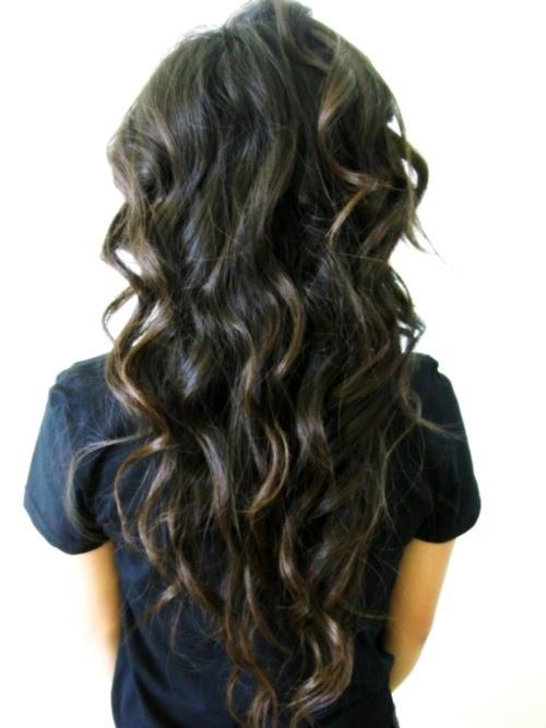 long brunette curls.
