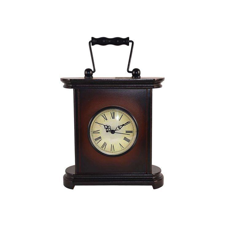 Traditional Wooden Mantel Clock   Dunelm