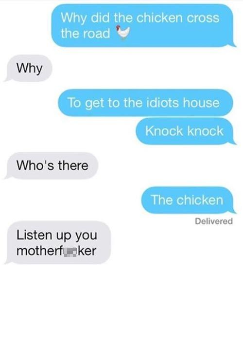 funny text message chicken