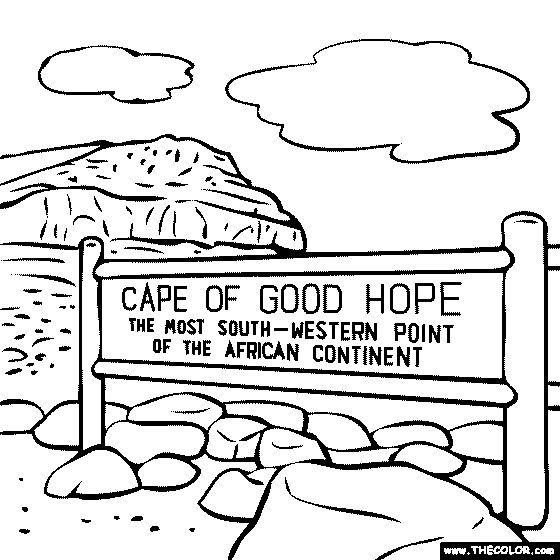 Cape Of Good Hope South Africa Coloring Page
