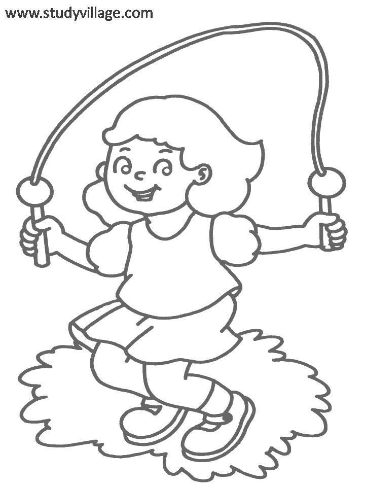 physical exercise coloring pages - photo#4