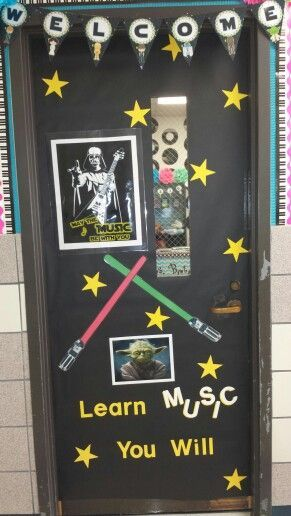 Star Wars Christmas Yoda Classroom Door | 2015-2016 school year ...
