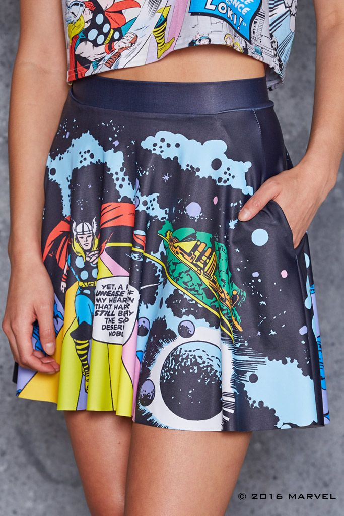 Rainbow Bridge Pocket Skater Skirt - 48HR ($75AUD) by BlackMilk Clothing