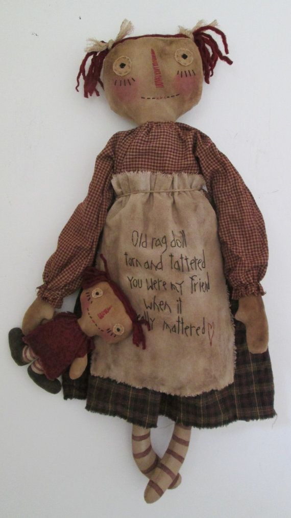 26 Anna always carries around her favorite dolly, Belle. They are both made from grubby muslin and have painted legs that have been sanded and
