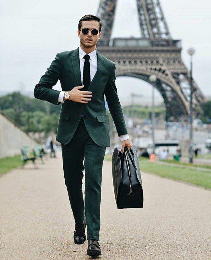 Formidable veste de costume devred costume vert