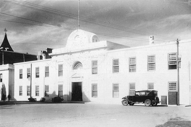 Old Supreme Court, Cape Town, 1928.Serious damage was done to the building in 1926 when Adderley Street was widened and the building's façade had to be set back more than 13m. Although the reconstruction of its façade was done most meticulously and according to original drawings, a number of important rooms within the building were lost and a number of alterations had to be made to the Supreme Court chamber.