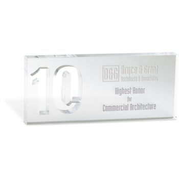 10 Year Service Acrylic Award for 10 Year Work Anniversary | PaperDirect