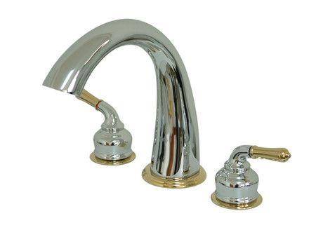 st charles double handle deck mount roman tub faucet - Roman Tub Faucets