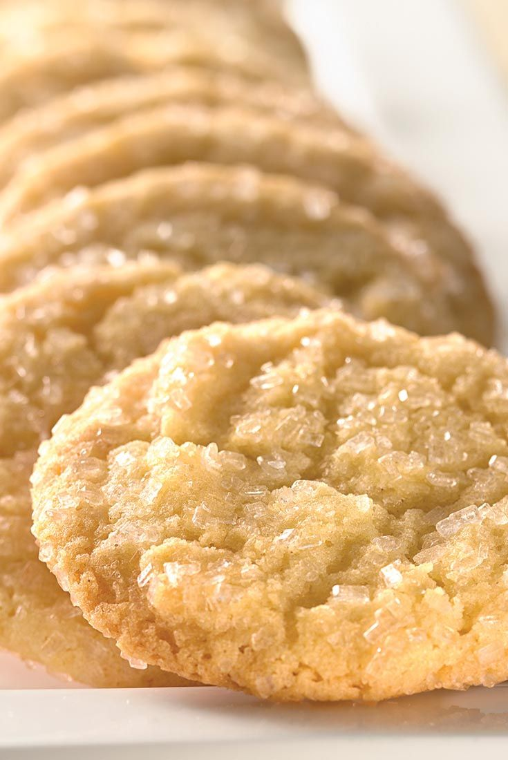 Self-Rising Crunchy Sugar Cookies Recipe. Replaces butter with shortening.