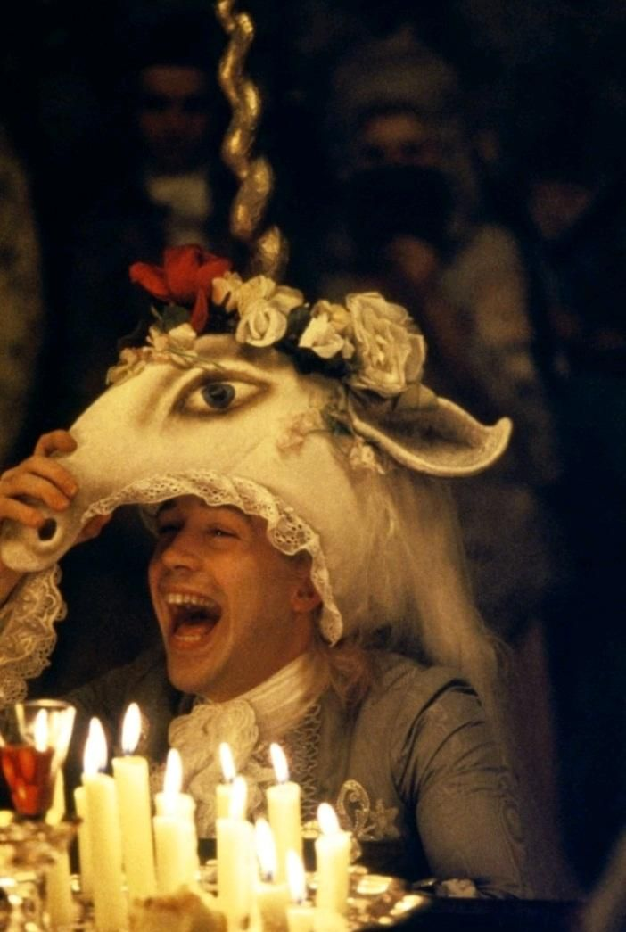 Tom Hulce in Amadeus directed by Milos Forman, 1984