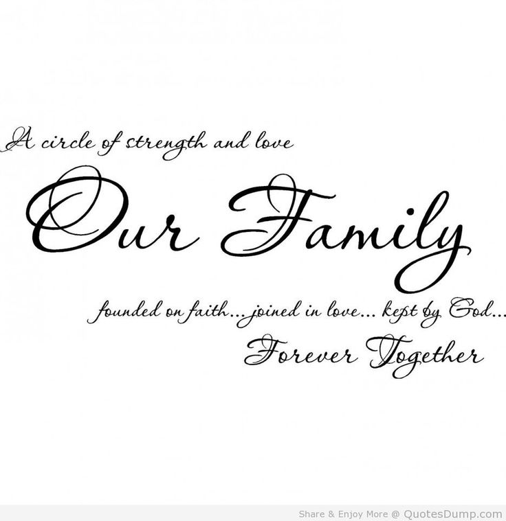 Family Quotes Our Forever Together A
