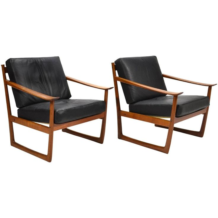 Peter Hvidt & Orla Mølgaard Nielsen Lounge Chairs by France & Son 1