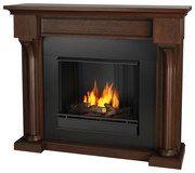 Real Flame - Verona Gel Fireplace - Chestnut Oak