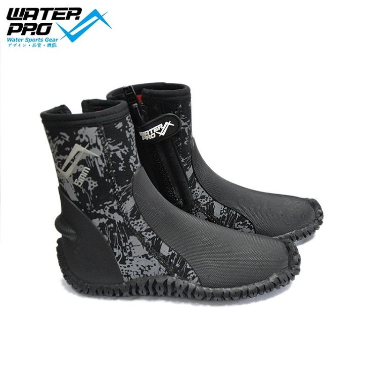 Water Pro GS 5mm Dive Boots for Diving Snorkeling Scuba