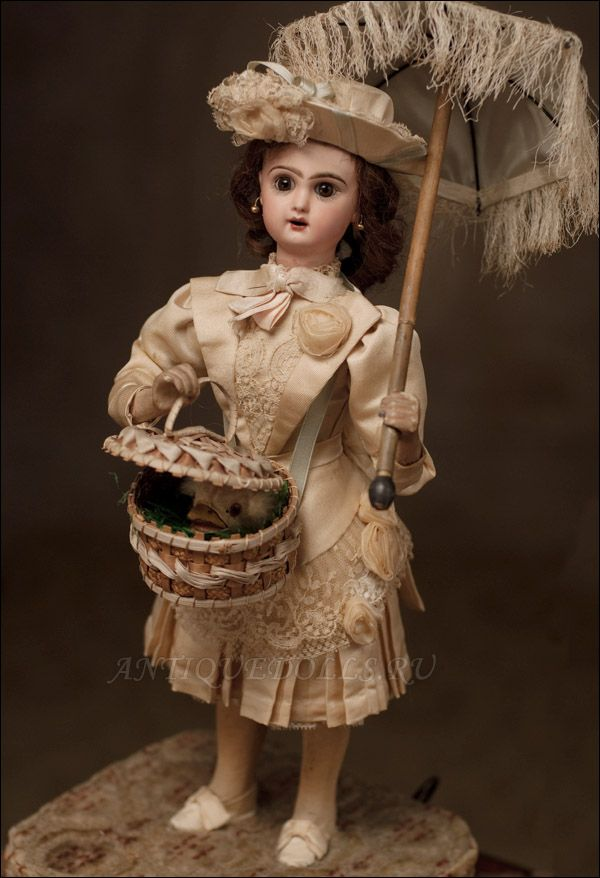 МУЗЕЙНАЯ РЕДКОСТЬ! Французский музыкальный автомат фирмы Lambert с куклой JUMEAU, Париж, 1880-е годы. - на сайте антикварных кукол.