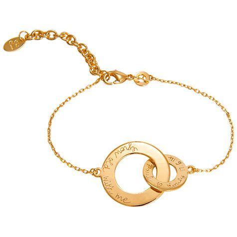 Buy Merci Maman Personalised Intertwined Chain Bracelet Online at johnlewis.com