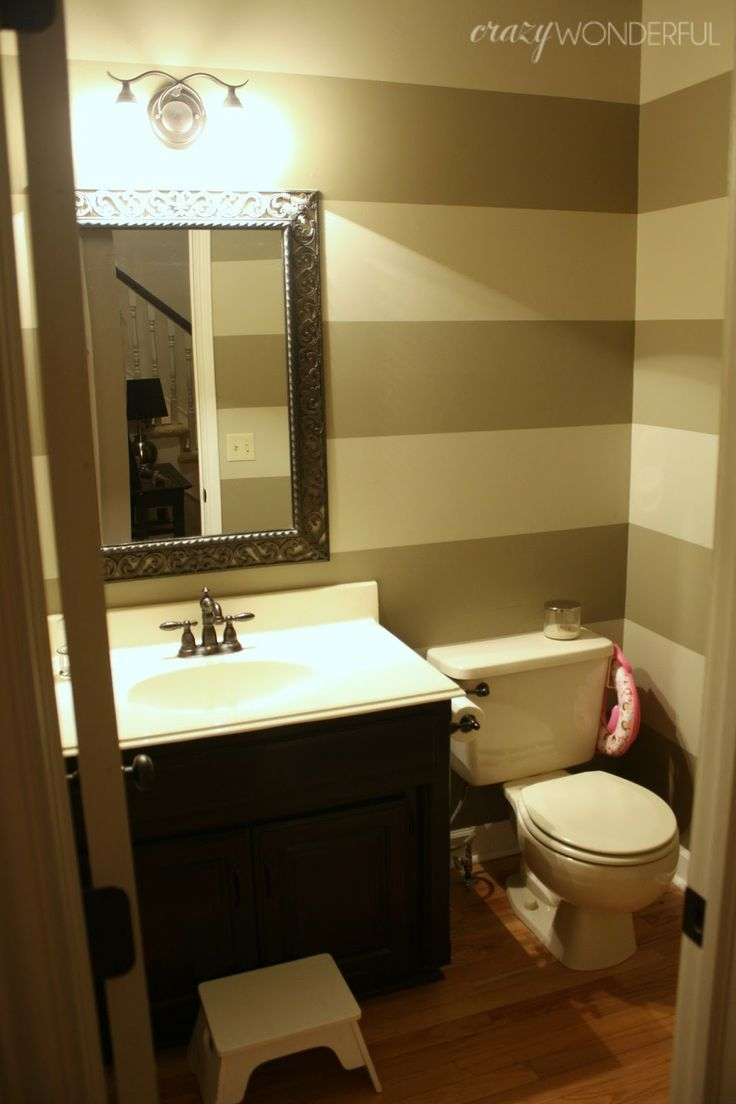 Good Main Floor Bathroom Ideas Part - 4: Powderroom | Still Like The Idea Of Stripes, But They No Longer Match The  Main