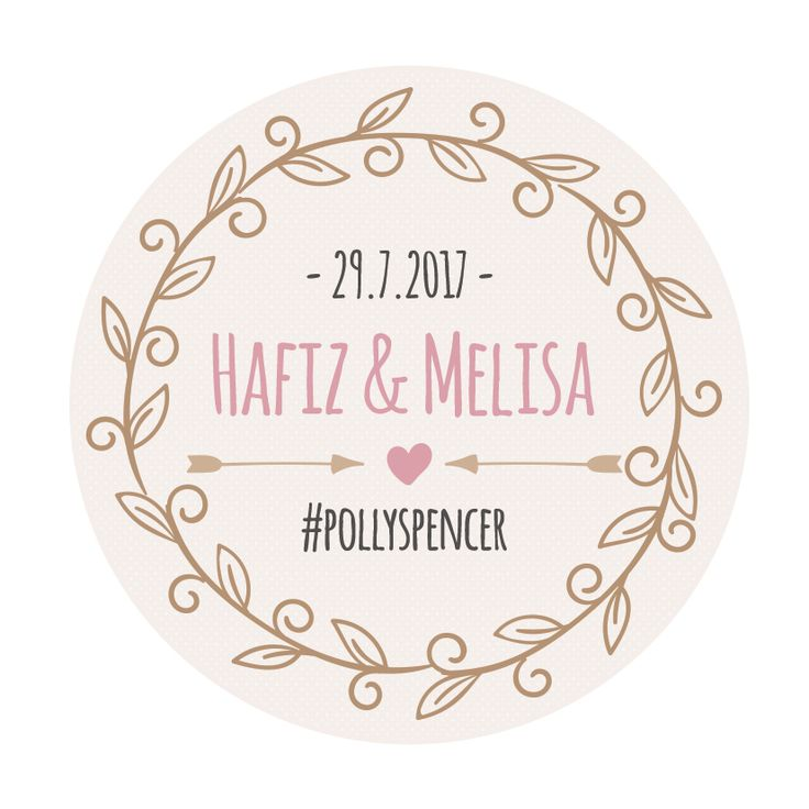 Wedding stickers : Hafiz & Melisa