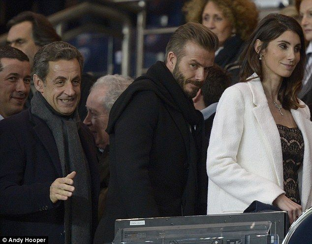 David Beckham watch Chelsea take on PSG in the Champions League #dailymail