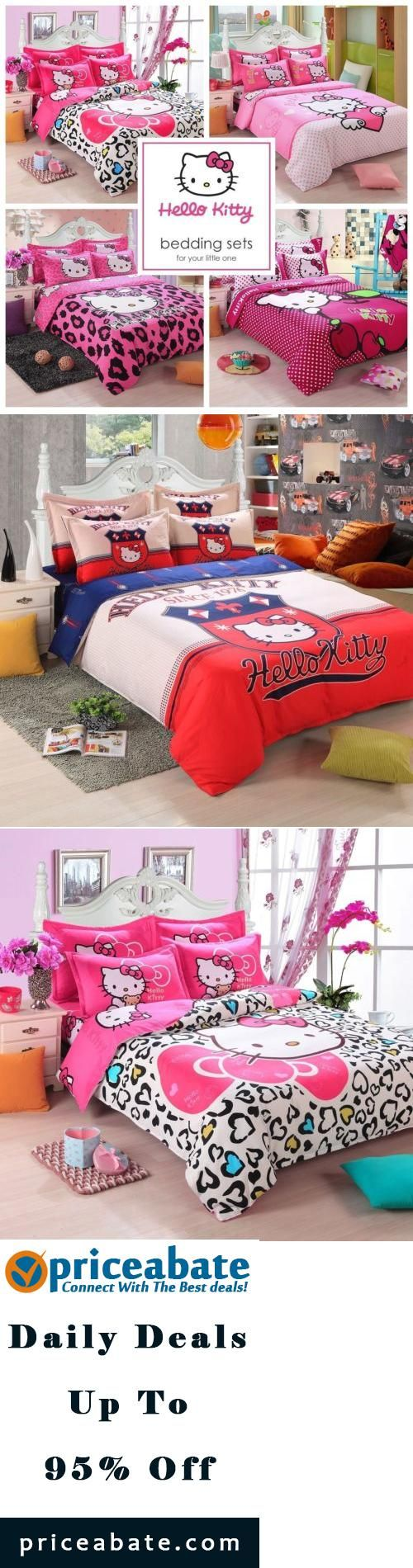 #priceabatedeals NEW Hello Kitty Bedding Duvet Quilt Cover Bedding Set Twin Full Queen Size Kids - Buy This Item Now For Only: $88.99