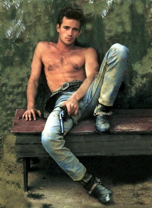 LUKE PERRY  Dirty Cowboy & Shirtless  my sister and i used to be in love with him...hmmmm lol :)