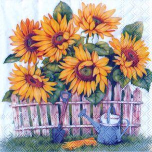 Garden of Sunflowers servítky slnečnice, záhrada