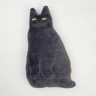 【ご予約】 Tomotake クッション(黒猫)