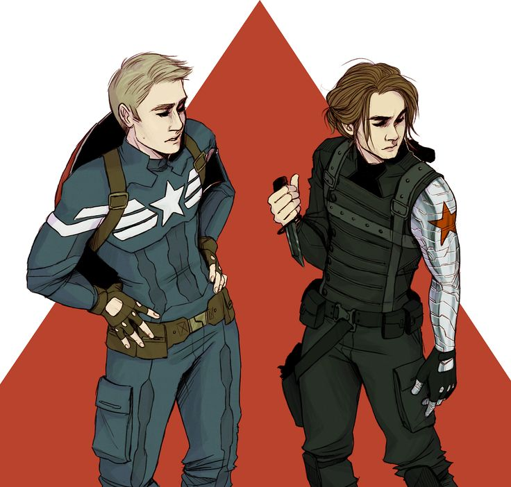 Steve Rogers, Captain America and James 'Bucky' Barnes, the Winter Soldier