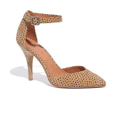 The Nora Heel in Spot Dot - pumps & heels - Women's SHOES & SANDALS - Madewell: Shoes, Heels The Nora, Fashion, Nora Heel, Adorable Heels, Norah Heels, Heels Madewell, Dots