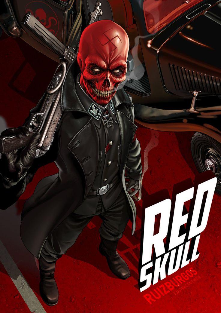 yourchangingbrain:    all-about-villains:    Red Skull: byRuiz Burgos/Website
