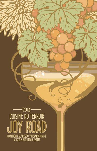 Okanagan wine poster