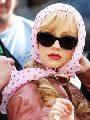 Christina Aguilera, pretty in pink