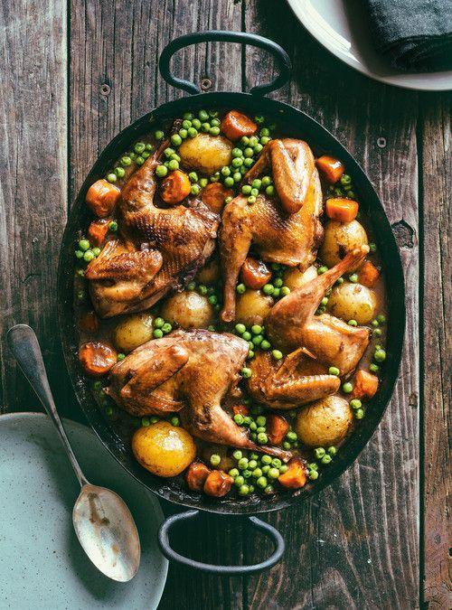Perdrix au vin rouge #farine #grillée #recette