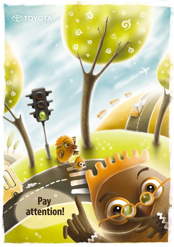 Road Safety For Kids On Behance Creative Poster Design Creative Posters Poster Design Inspiration